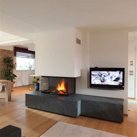 Camini Circolari by Caminetti Moderni Sisustusta Home Fireplace Modern