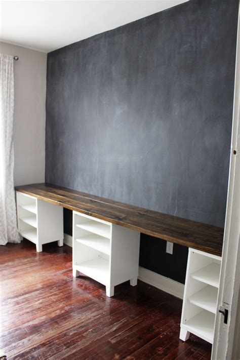 long desks for home office diy 12 foot long double desk icing on the cake blog