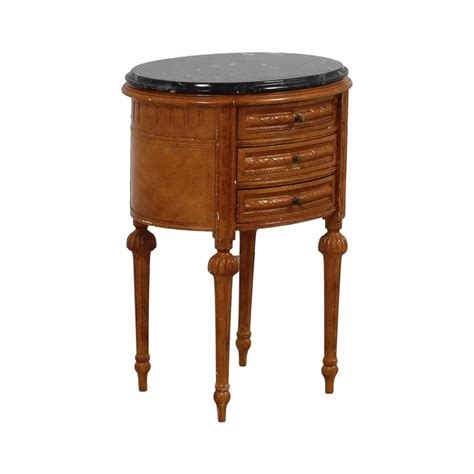 77% Off  Antique Oval Marble Top Side Table  Tables. Sears Workbench With Drawers. Wide Plastic Drawers. Banquet Table Decorations. Ikea 6 Drawer. Black Dining Room Table. Cheap Drafting Table. Teak Coffee Table. Oak Desk Furniture