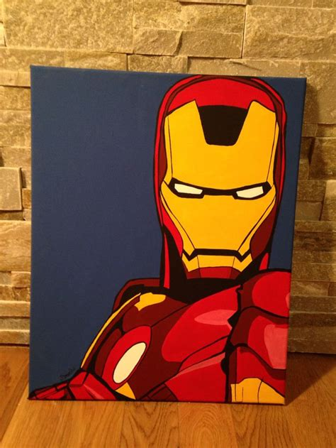 iron man pop art barbo peinture pop art peindre