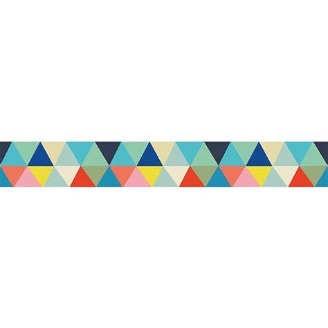 chambre bebe couleur frise enfant papier peint triangles multicolores ma