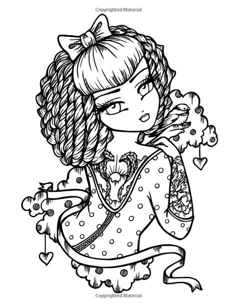 Tattoo Darlings: An Inky Girls Coloring Book: Hannah Lynn: 9780692916896: AmazonSmile: Books
