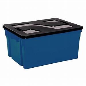 Bac De Rangement Avec Couvercle : bac de rangement eda avec couvercle bleu et noir de bac de rangement ~ Teatrodelosmanantiales.com Idées de Décoration