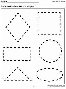 math worksheet 1000 images about preschool shapes on With shape tracing templates