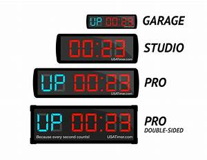 Garage gym timer fight gone bad tabata usa timer at x for Gym wall clock timer