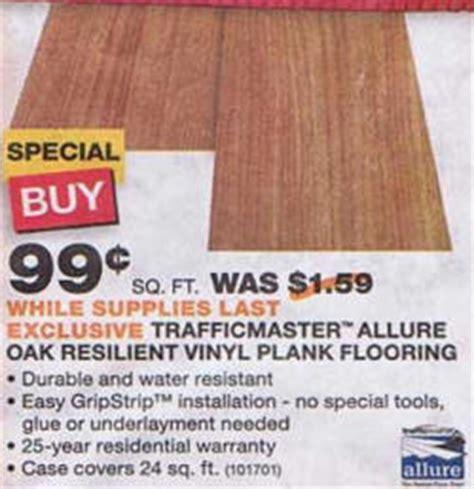 vinyl plank flooring deals black friday deal trafficmaster allure oak resilient vinyl plank flooring
