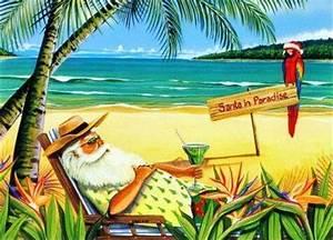 Christmas Beach Greetings Postcards for Xmas and Holidays