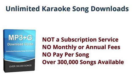Download Karaoke Songs  Unlimited Mp3+g File Downloads