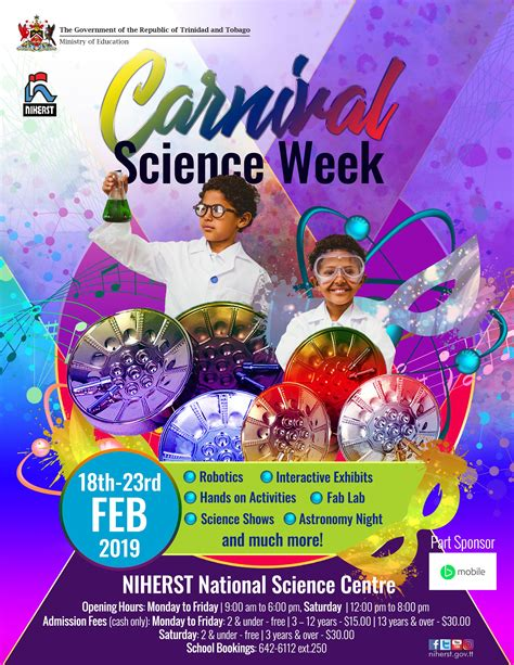 NIHERST   Carnival Science Week 2019