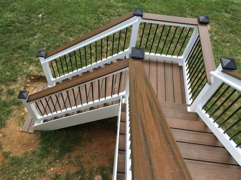 Installing Trex Decking On Stairs by Deck Steps American Exteriors Masonry