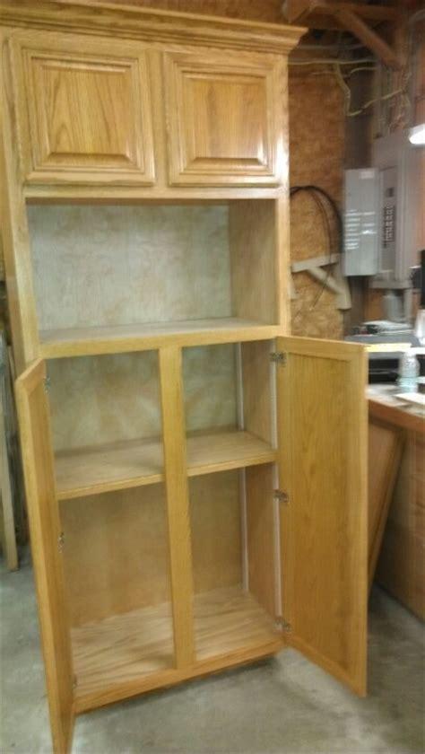 custom pantry  microwave cabinet  work pinterest