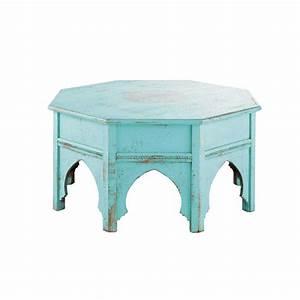 Table Basse Ronde Maison Du Monde : table basse ronde bleue salvador maisons du monde ~ Teatrodelosmanantiales.com Idées de Décoration