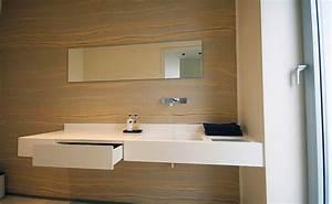 Arbeitsplatte Mit Integriertem Waschbecken : arbeitsplatte vollholz als waschtisch ~ Michelbontemps.com Haus und Dekorationen