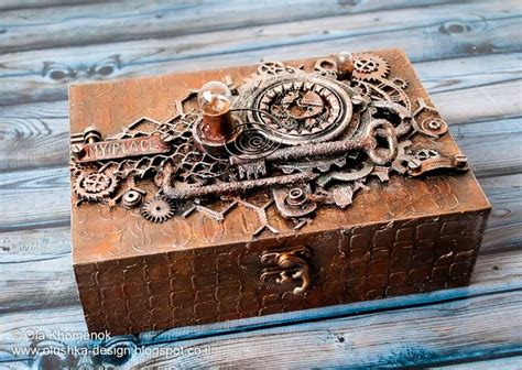 steampunk altered box cigar box art steampunk crafts