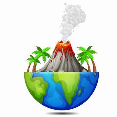 Vulkan Vulkaan Volcano Volcan Erde Earth Baum
