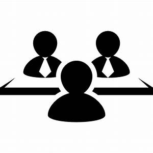Businessmen having a meeting - Free people icons