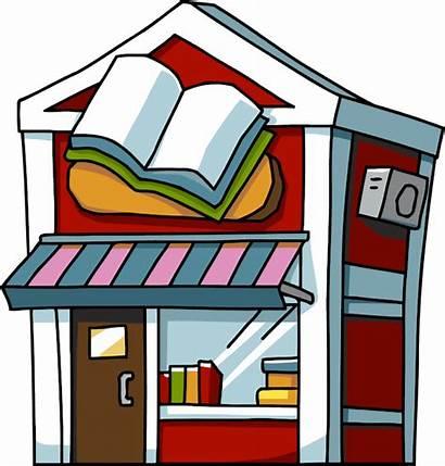 Bookstore Flashcards Cliparts Clipart Bookshop Buildings Places