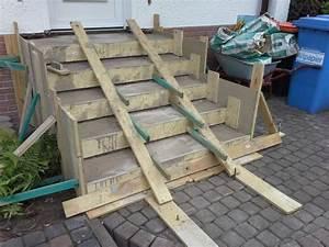 Treppe 4 Stufen Selber Bauen : treppe zur haust r neu betonieren und mit naturstein belegen frisch betoniert ~ Bigdaddyawards.com Haus und Dekorationen