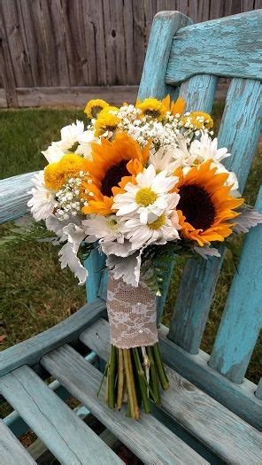 Wedding Bouquet With Sunflowers Daisy Mums Yellow Button