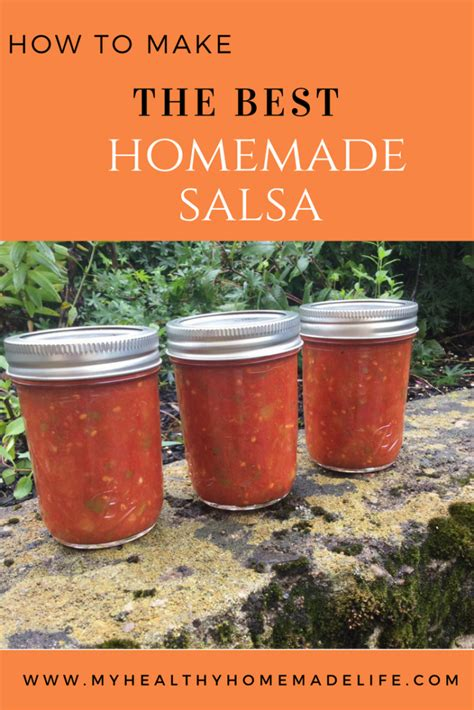 Process in food processor or blender for just a few seconds for chunky salsa or a bit longer for a smoother texture. The Best Homemade Salsa (for Canning) - My Healthy Homemade Life