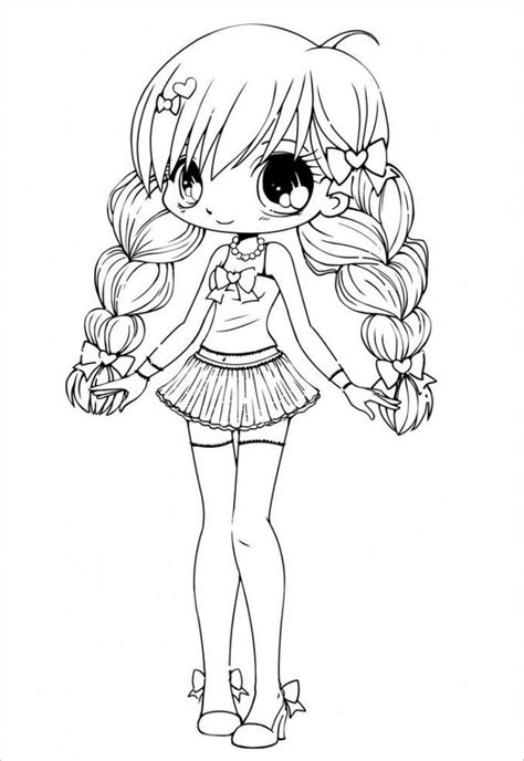 gacha life coloring pages sketch  printable coloring