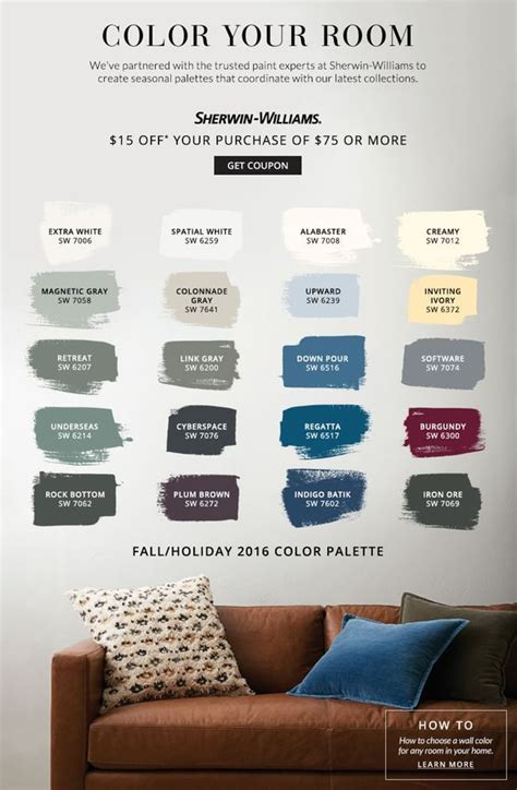 Pottery Barn Interior Paint Colors by Color Your Room Pottery Barn Sherwin Williams Living