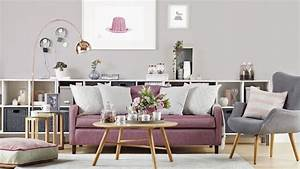 Bild Rosa Grau : 1001 atemberaubende ideen f r wandfarbe grau ~ Frokenaadalensverden.com Haus und Dekorationen