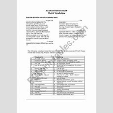An Inconvenient Truth Vocabulary  Esl Worksheet By Atrintignac