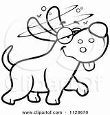 Dog Drunk Stupid Clipart Cartoon Coloring Pages Outlined Cory Thoman Vector Getcolorings Illustrations Royalty Getdrawings sketch template