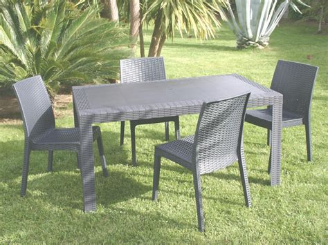 table et chaise de jardin design emejing salon de jardin plastique gifi images amazing