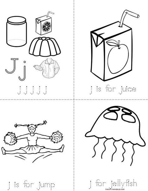 letter j book twisty noodle 445 | letter j minibook 4 sheet pg1 jpg 600x776 q85