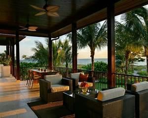 terrassengestaltung beispiele 40 inspirierende ideen With markise balkon mit versace tapete palmen