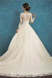 graceful ball gown illusion neckline long sleeve tulle With long sleeve illusion wedding dress
