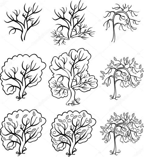 Kleurplaten Appelboom by Kleurplaat Bush En Bomen Een Appelboom Vectorillustratie