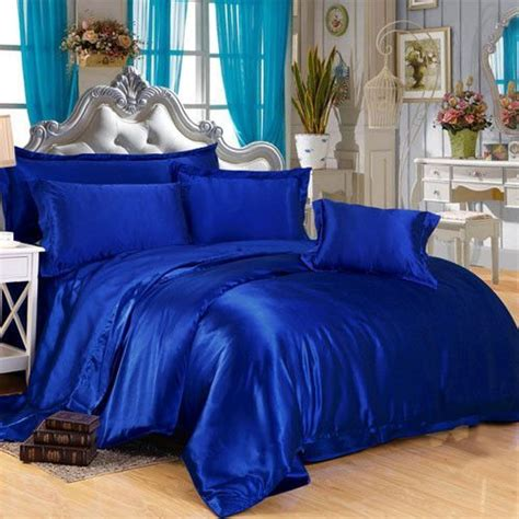 royal blue silk duvet cover luxury bedding sets royal