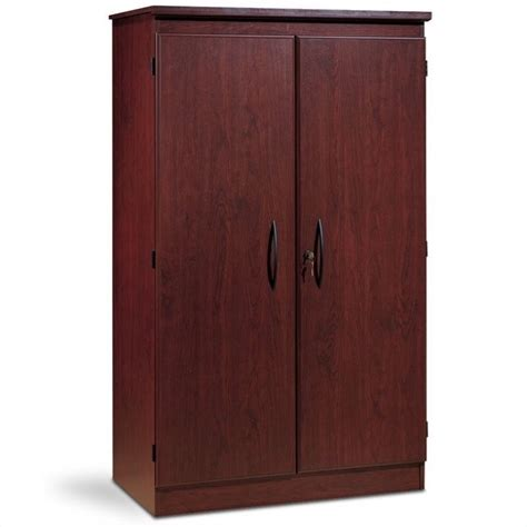 south shore cabinets south shore park 2 door storage cabinet in royal cherry 2404