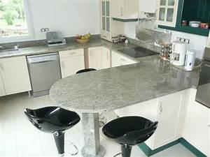Table Plan De Travail Cuisine : plan de travail en granit ~ Melissatoandfro.com Idées de Décoration