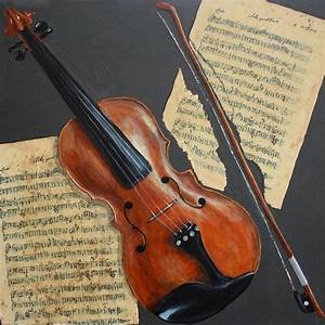 Violin Painting by Andrea Meyer
