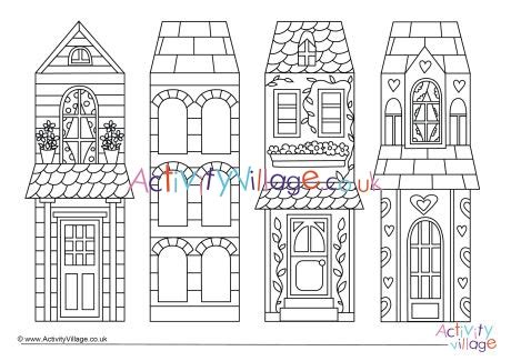 house colouring bookmarks