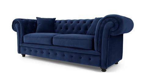 blue velvet chesterfield sofa branagh 2 seater chesterfield sofa electric blue velvet