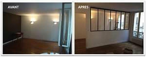 Faire Une Cloison De Separation : verri re pour s parer une chambre et un salon ~ Melissatoandfro.com Idées de Décoration