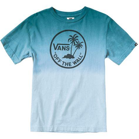 vans dipped palm island youth  shirt lagoon