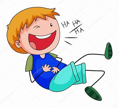 Laughing Clipart Boy Illustration Happy Alone Jokes