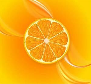 Fruit juice background orange slice decoration closeup ...