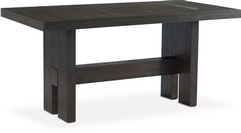 rectangular bar height table malibu rectangular counter height wood top table umber
