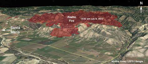 alamo fire grows   acres  santa maria