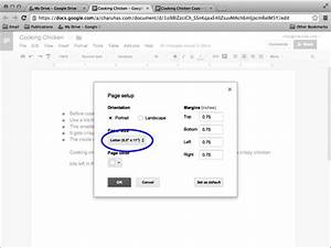 Google docs in pictures for Google docs set page size
