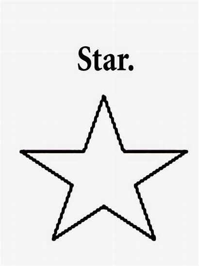 Coloring Shapes Star Printable Pages Simple Shape
