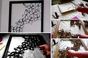 Comment faire une magnifique décoration murale avec des rouleaux de papier toilette Des idées