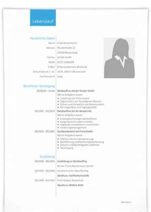 tabellarischer lebenslauf gratis muster vorlagen und